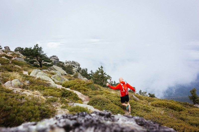 Mountain running in Madrid Spain