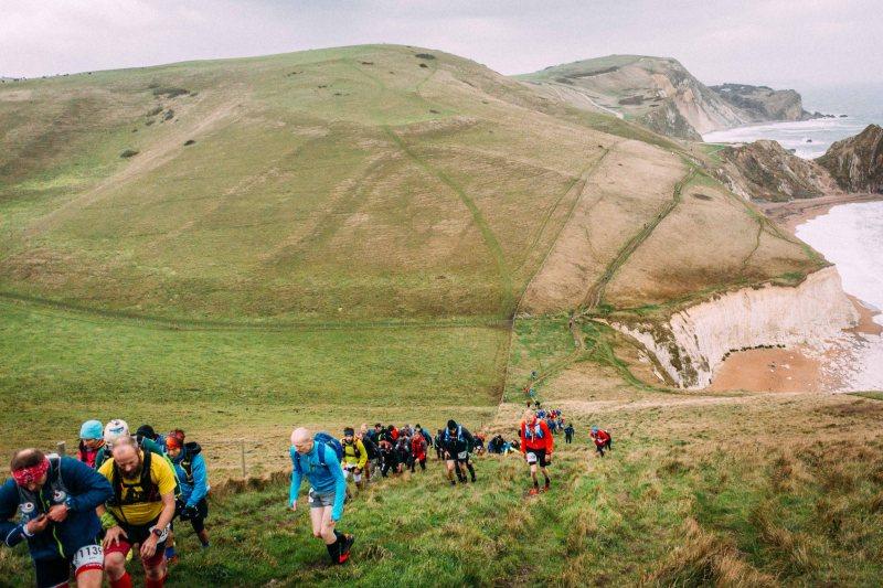 Climbing at CTS Dorset ultramarathon