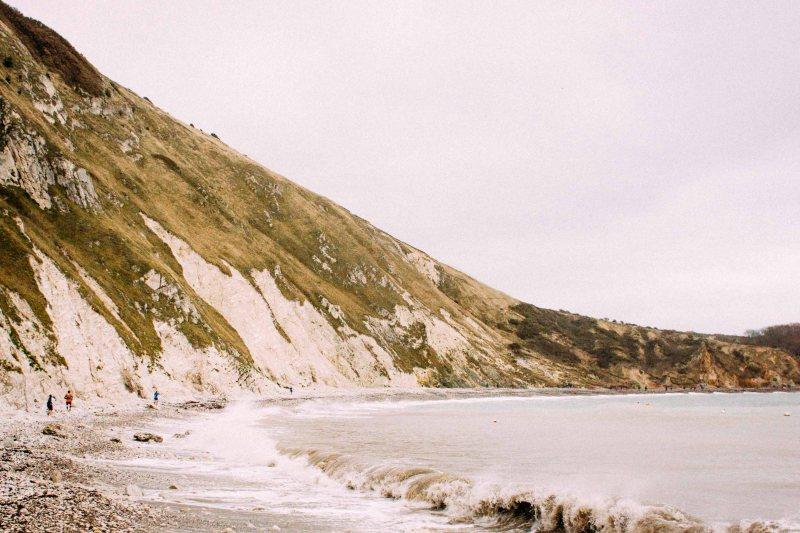Running on the shoreline at CTS Dorset ultramarathon