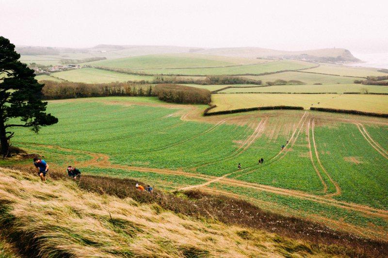 Through the fields in CTS Dorset ultramarathon