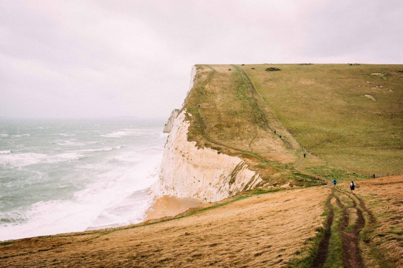 A lot less crowded on the second loop of CTS dorset ultramarathon