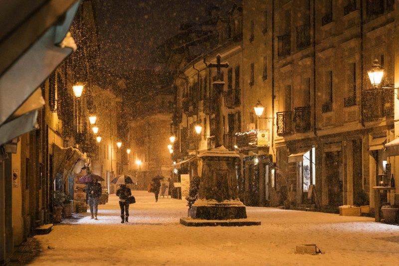 Aosta town center, Italy