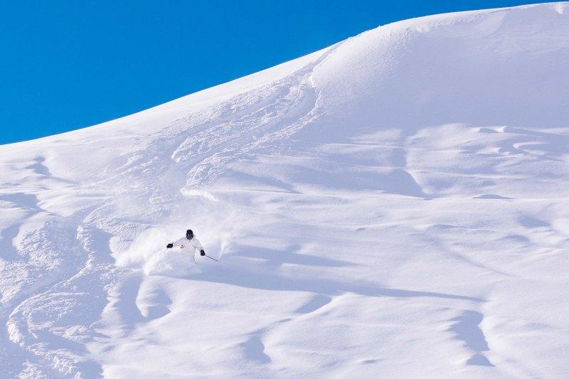 Skiing in Pila, Italy