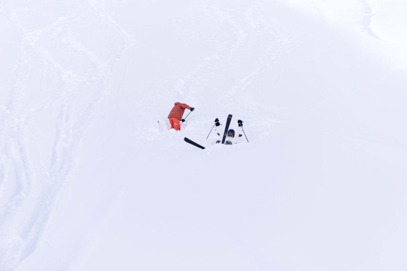 Offpiste skiing in Pila, Italy