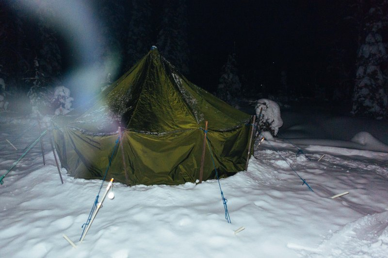 Sleeping tent at Rovaniemi 150 checkpoint