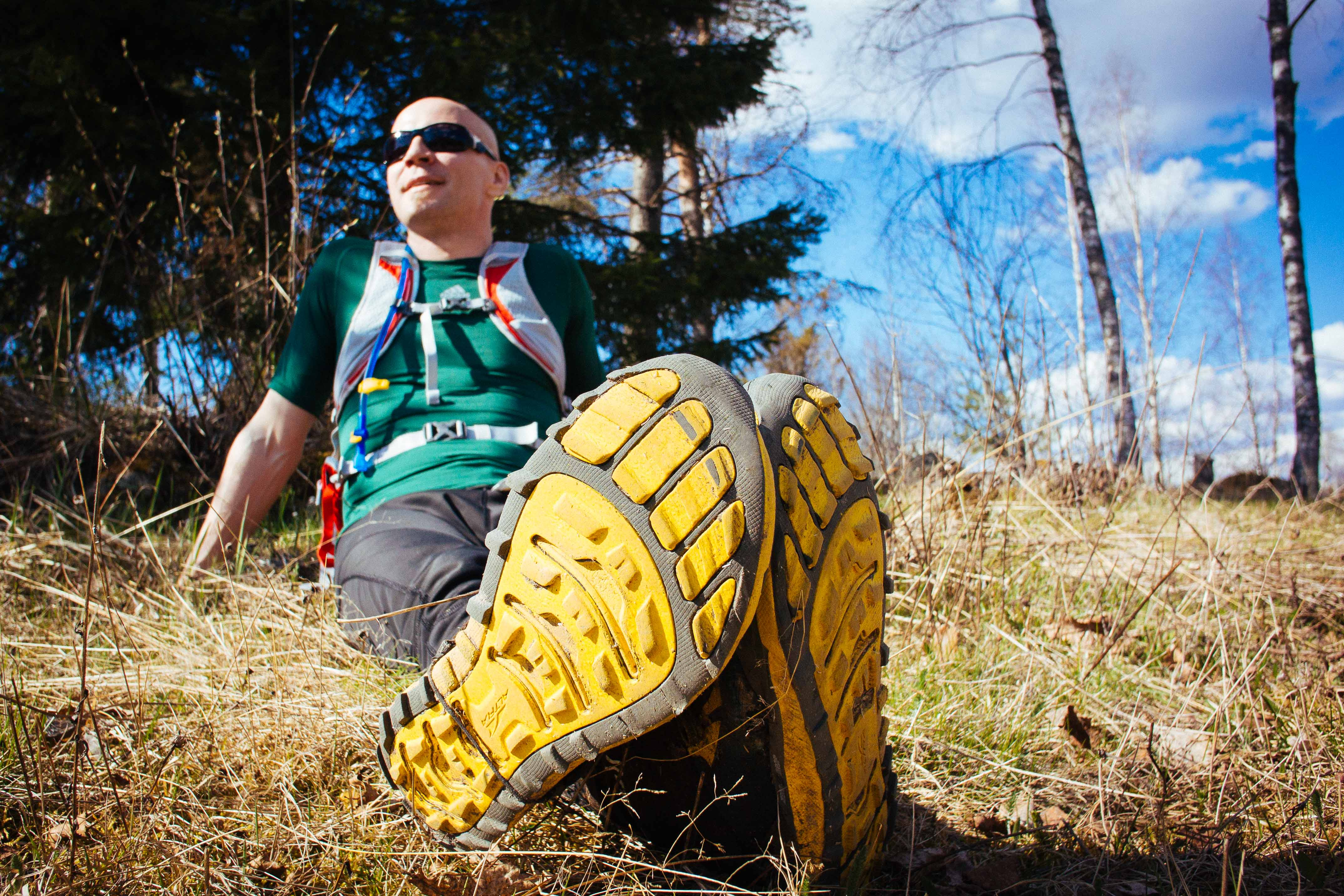 Recovering in the sun after Bodom Trail finish