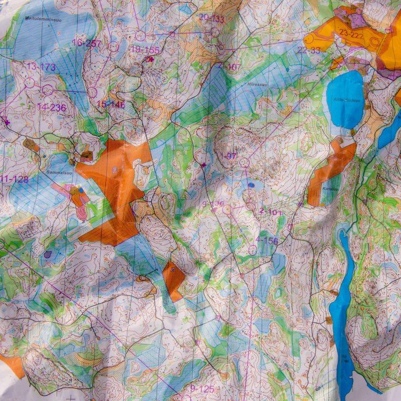 Lappee Jukola leg 6 race map