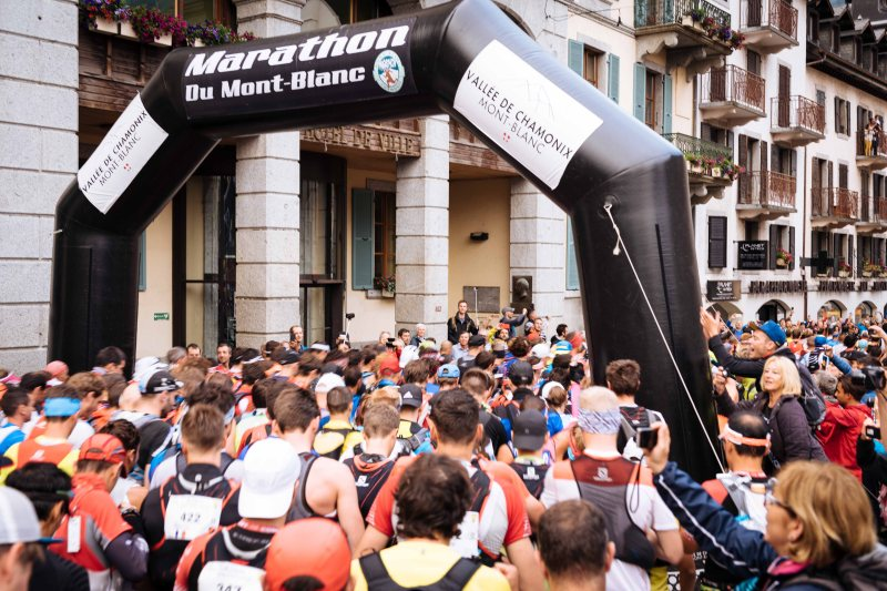 Marathon du Mont Blanc race start
