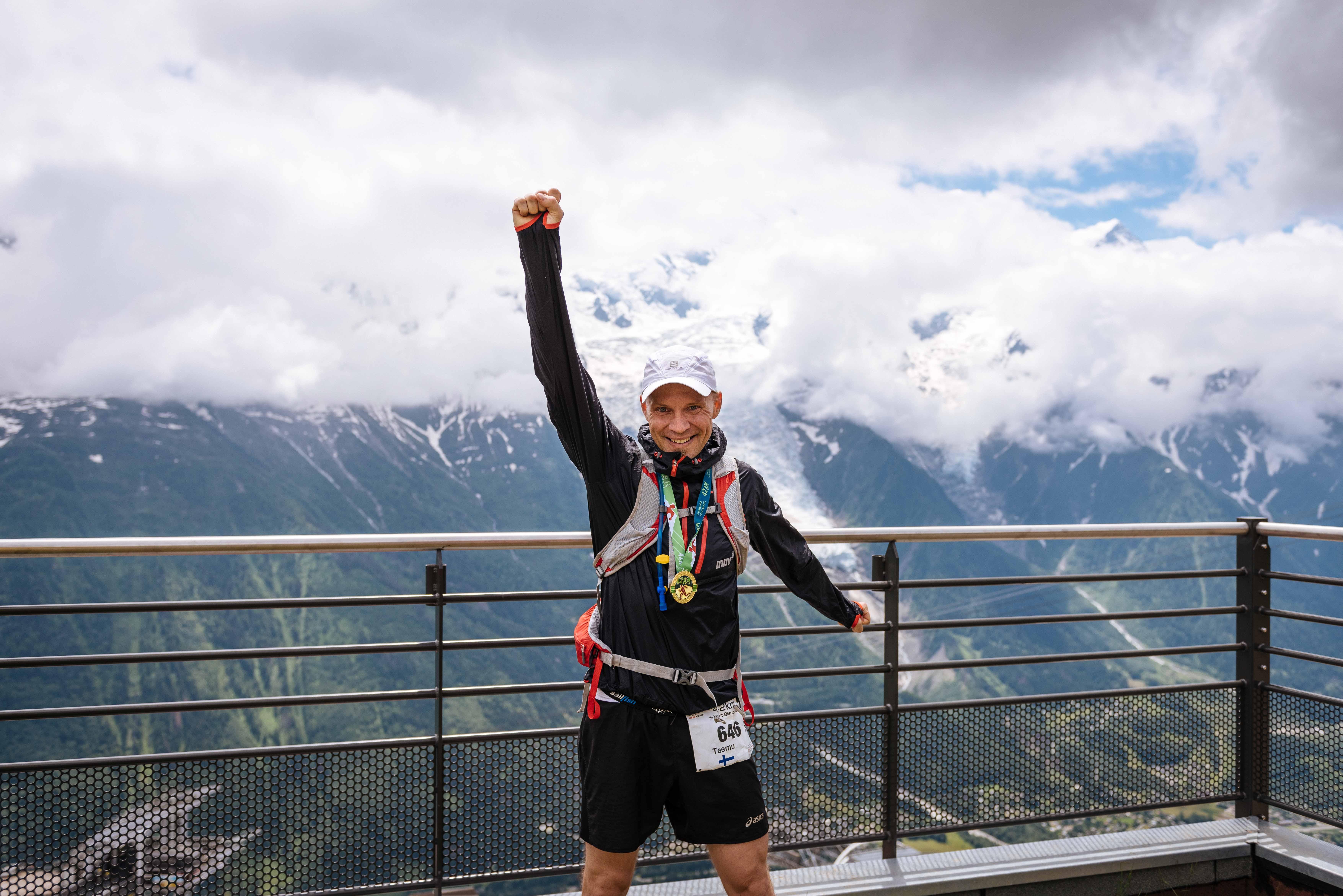 Happy Marathon du Mont Blanc finisher!