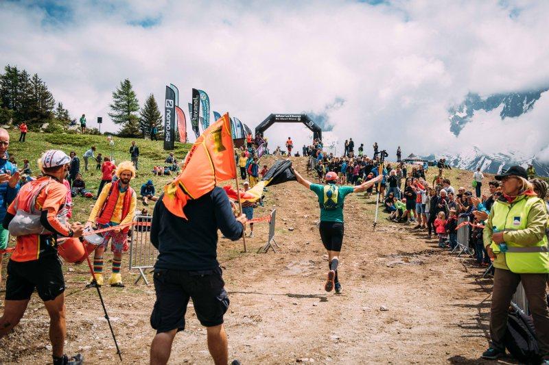 Marathon du Mont Blanc finish line