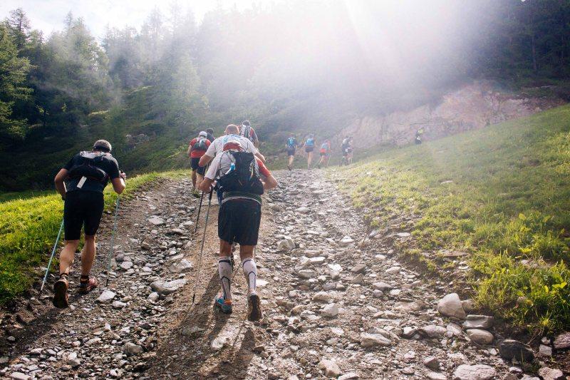 Climbing at Marathon du Mont Blanc