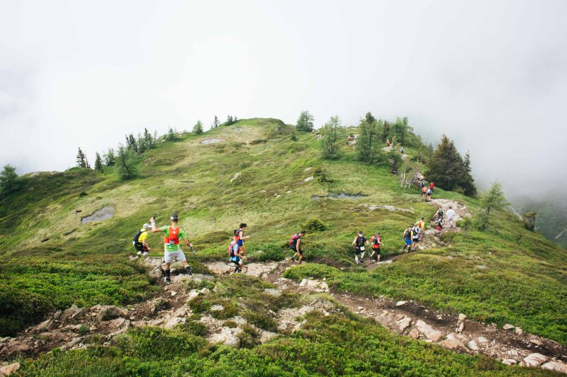 Running downhill at Marathon du Mont Blanc