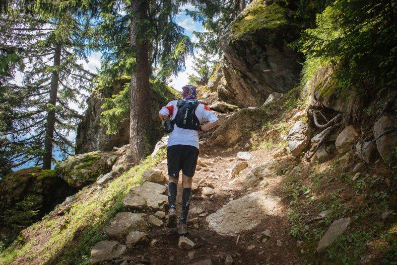 Last long climb in Marathon du Mont Blanc