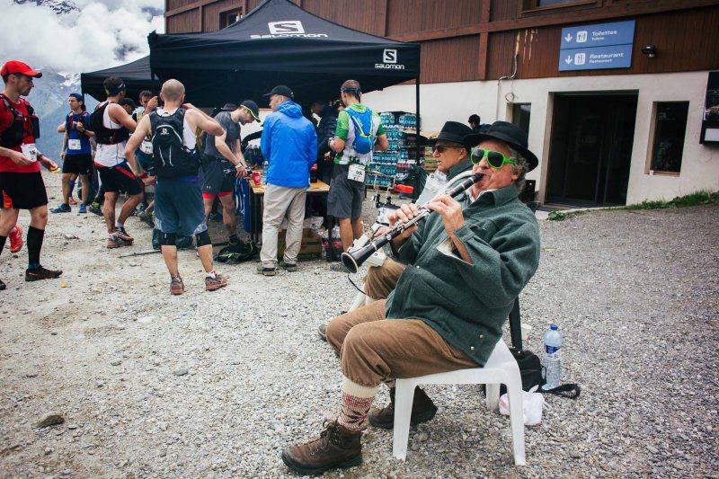Last aid station at Marathon du Mont Blanc