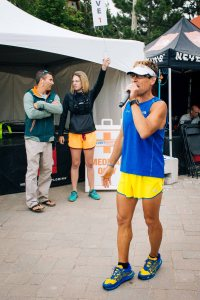 Last words from Dean Karnazes before the 50k race was set off