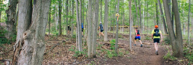 Uphill running in North Face Endurance challenge Ontario
