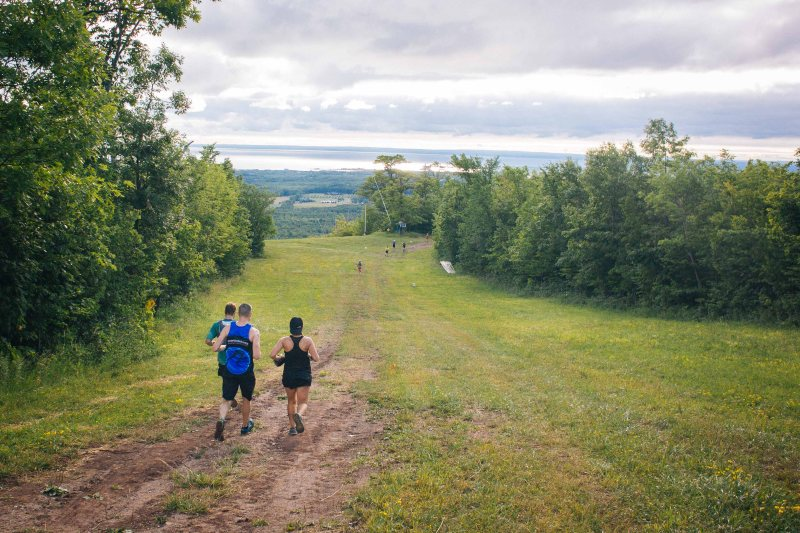 Going downhill in North Face Endurance Challenge Ontario