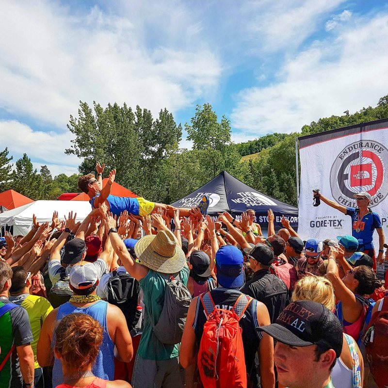 Dean Karnazes crowdsurfed in North Face Endurance Challenge Ontario