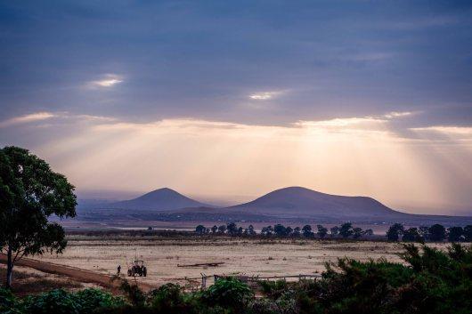 Evening at Simba farm on Kilimanjaro Stage Run