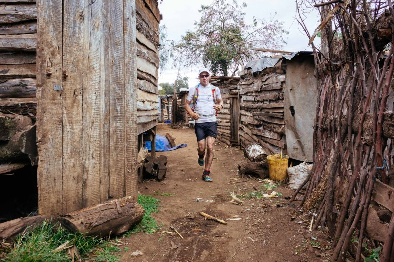Running through a village near Kenyan border