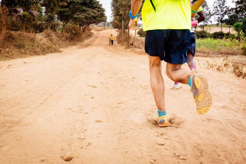 Dusty day 3 on Kilimanjaro Stage Run