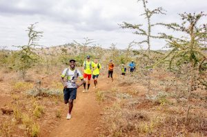 Short stretch of savanna on day 3 of Kilimanjaro Stage Run