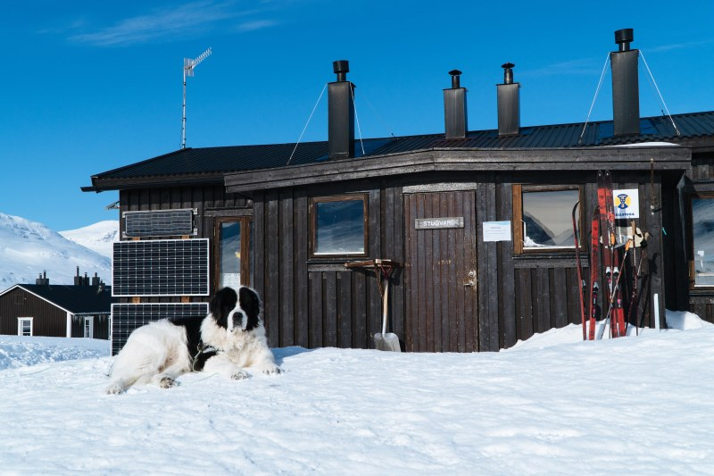 Singi cabin by the Kungsleden