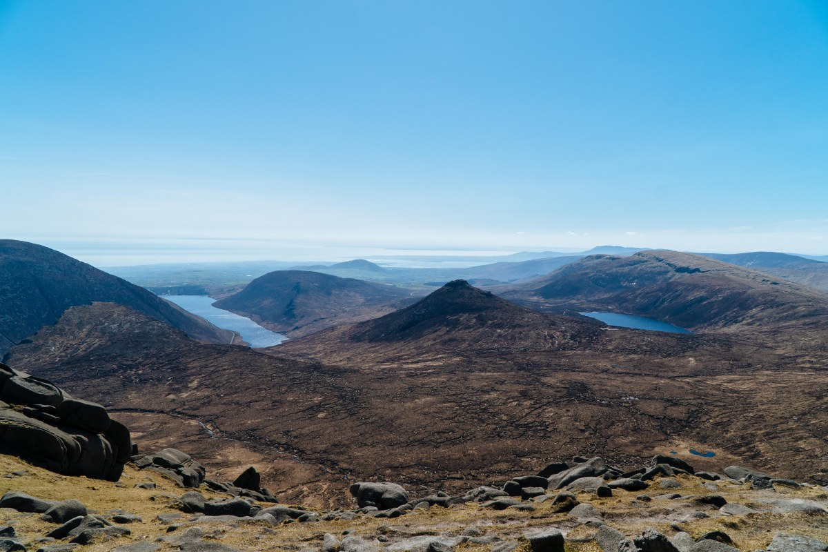 Trail running in Mourne Mountains