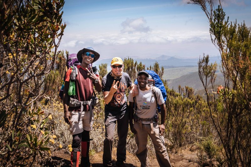 On the way to Big Tree camp via Lemosho Route on Mt. Kilimanjaro