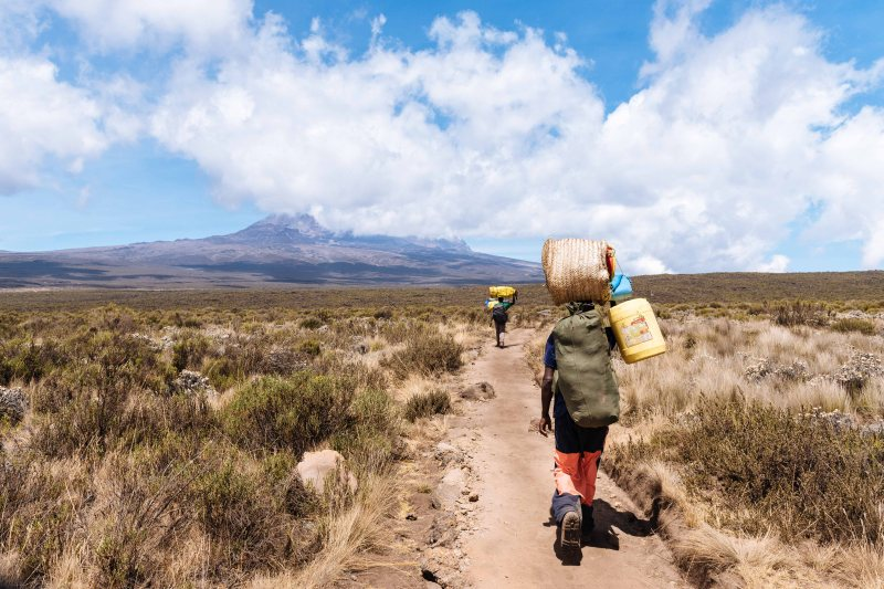 Leaving Shira Camp, Kilimanjaro