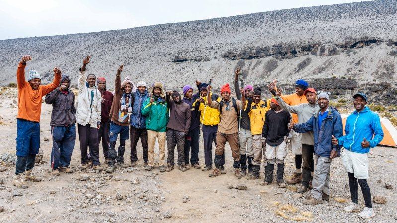 Our Sene crew on Kilimanjaro climb