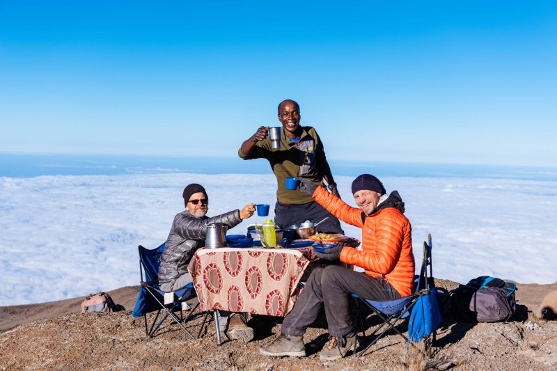 Last breakfast before Kilimanjaro summit