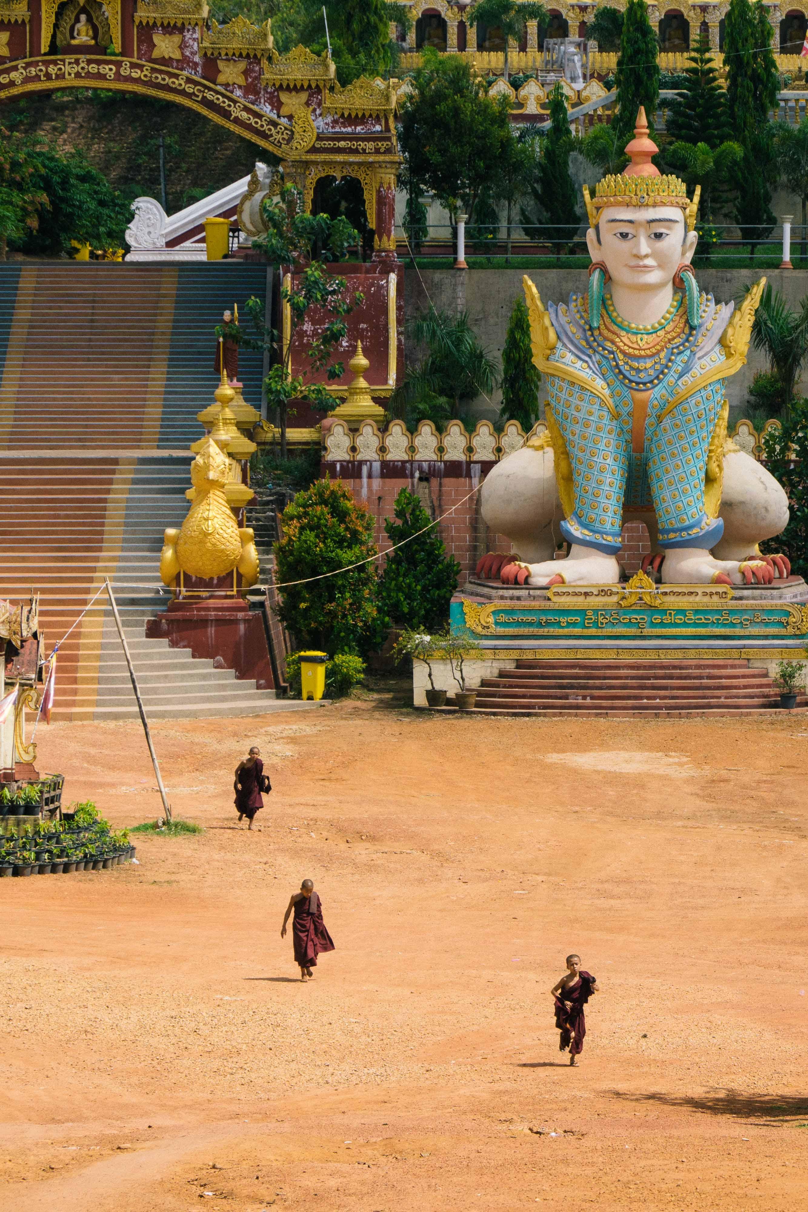 Banana Temple near Ye, Myanmar